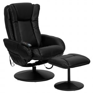 reclining chair with ottoman flash furniture leather heated reclining massage chair and ottoman