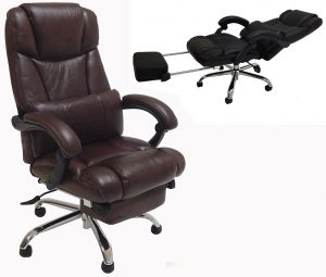 reclining desk chair leather reclining office chair