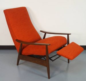 reclining lounge chair vintage reclining lounge chair by milo baughman danish modern noho l