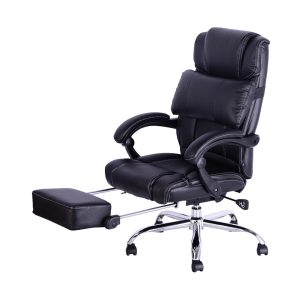 reclining office chair with footrest great leather reclining office chair with footrest in black