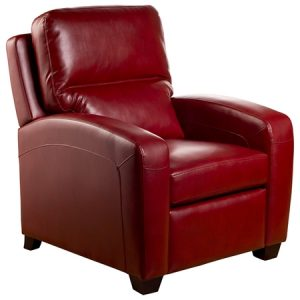 red leather recliner chair emred