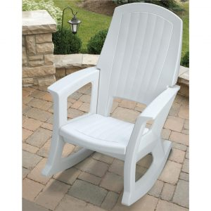 resin outdoor chair semco rocking chair white
