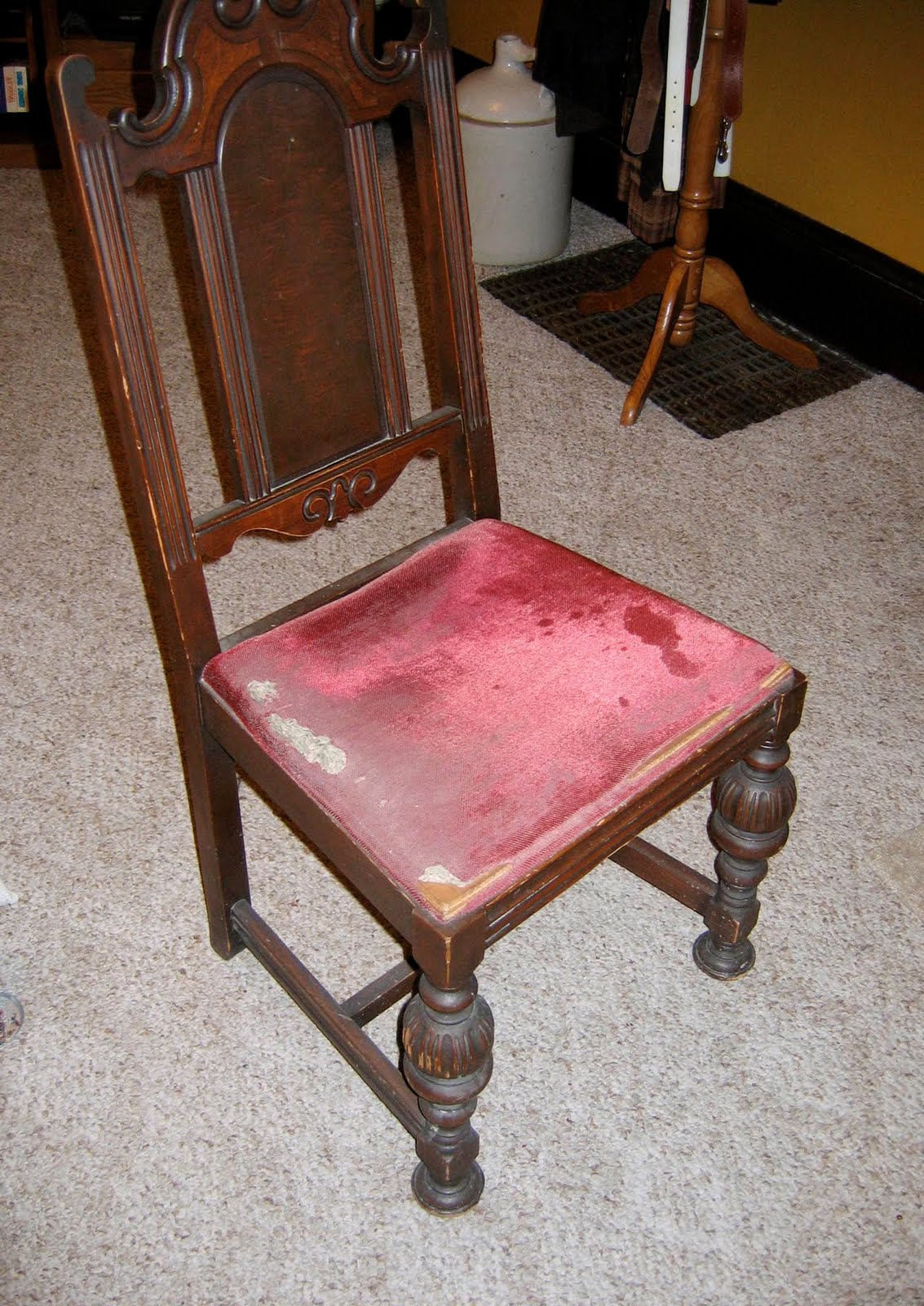 reupholster chair seat