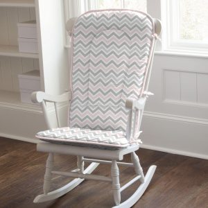 rocking chair pads pink and gray chevron rocking chair pad large
