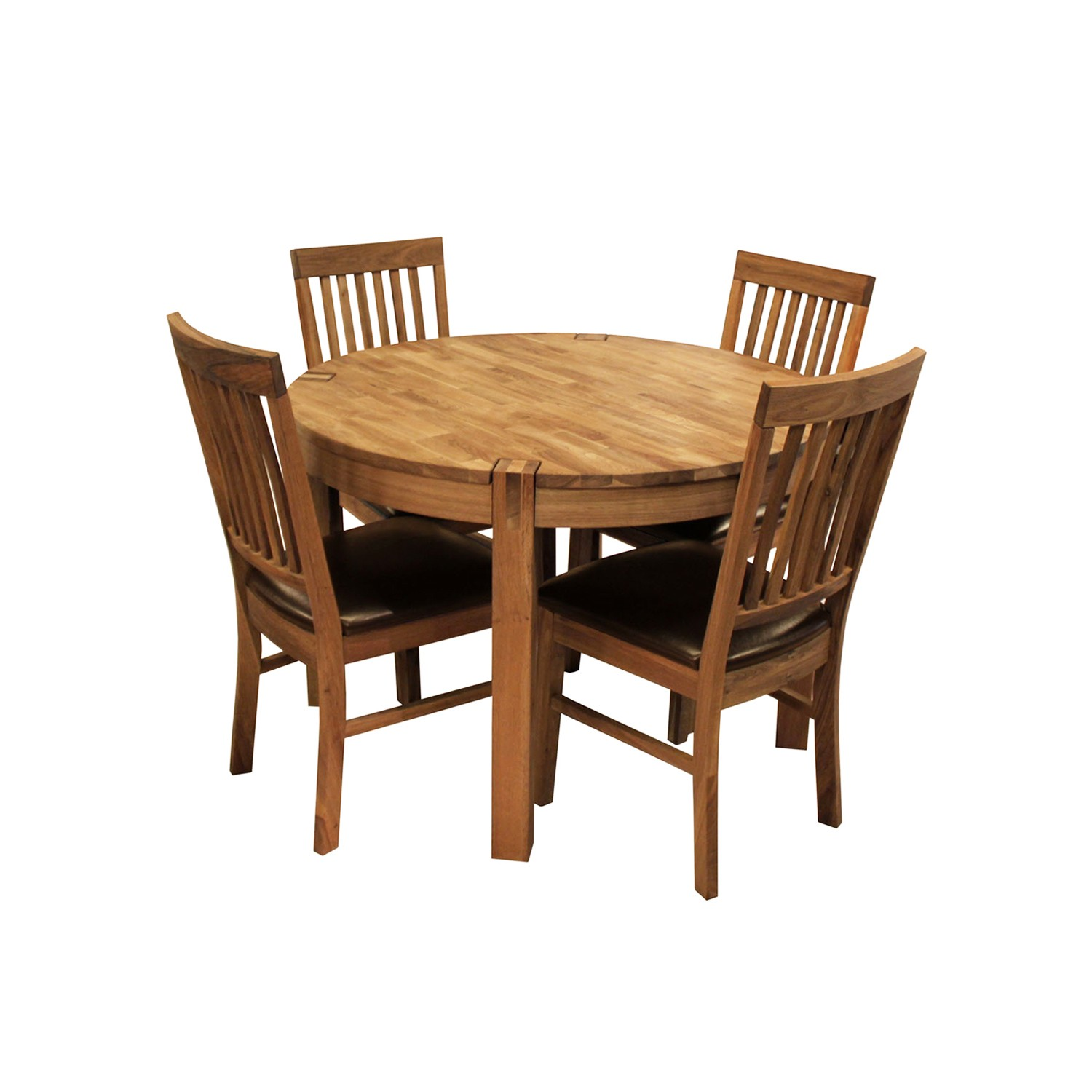 round dining table and chair