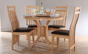 round dining table and chair ds