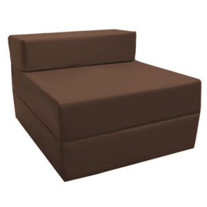 single fold out bed chair brown