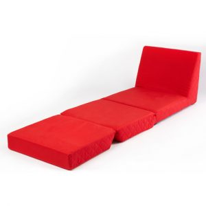 single fold out bed chair zfs jp flat red