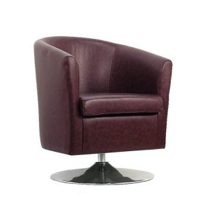 small swivel chair small leather sofa tub chair rosewood (product large)