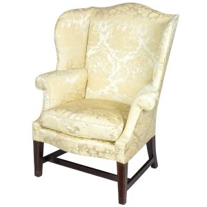 small wingback chair piece quarter org z