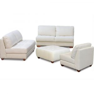 sofa and chair set diamond sofa zen collection armless all leather tufted seat sofa loveseat chair and ottoman zenslcow