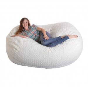 soft bean bag chair foot soft white fur large oval microfiber foam bean bag chair cfe f a dede