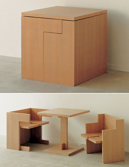 space saving table and chair
