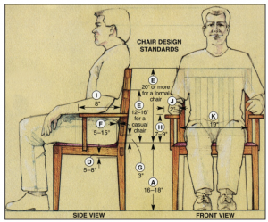 standard chair dimensions vrdqwrpgy