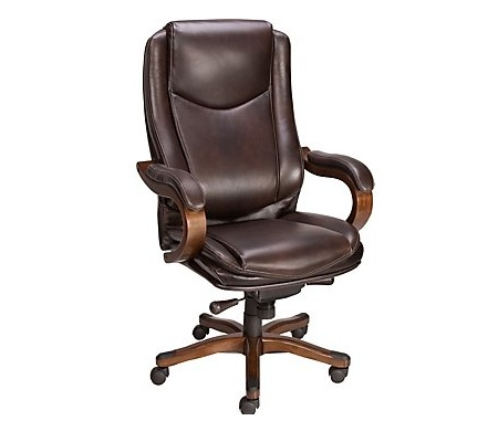 staples office chair staples eastcott top grain leather executive mid back chair brown image title wuscq