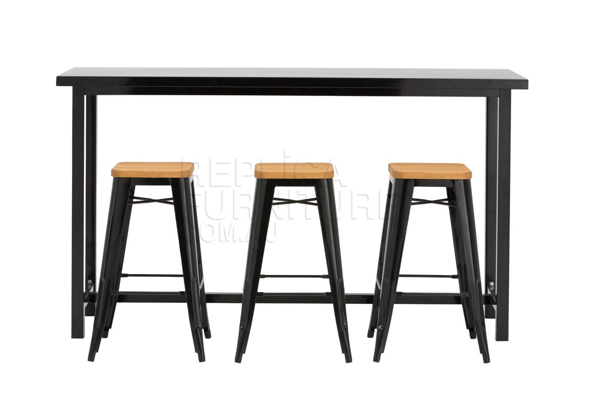 steel dining chair replica pauchard bar table and stools