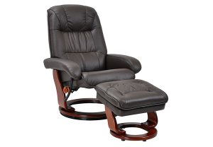 stress free chair benchmaster kona brown top grain leather stressfree chair and ottoman