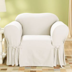 sure fit slipcover chair cotton duck chair natural