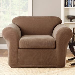 sure fit slipcover chair stretch metro pc chair brown