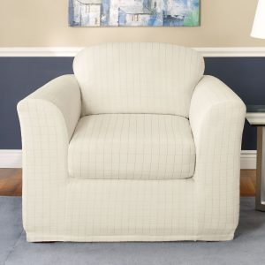surefit chair slipcovers stretch squares chair ivory