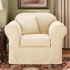 surefit chair slipcovers suede supreme chair cream