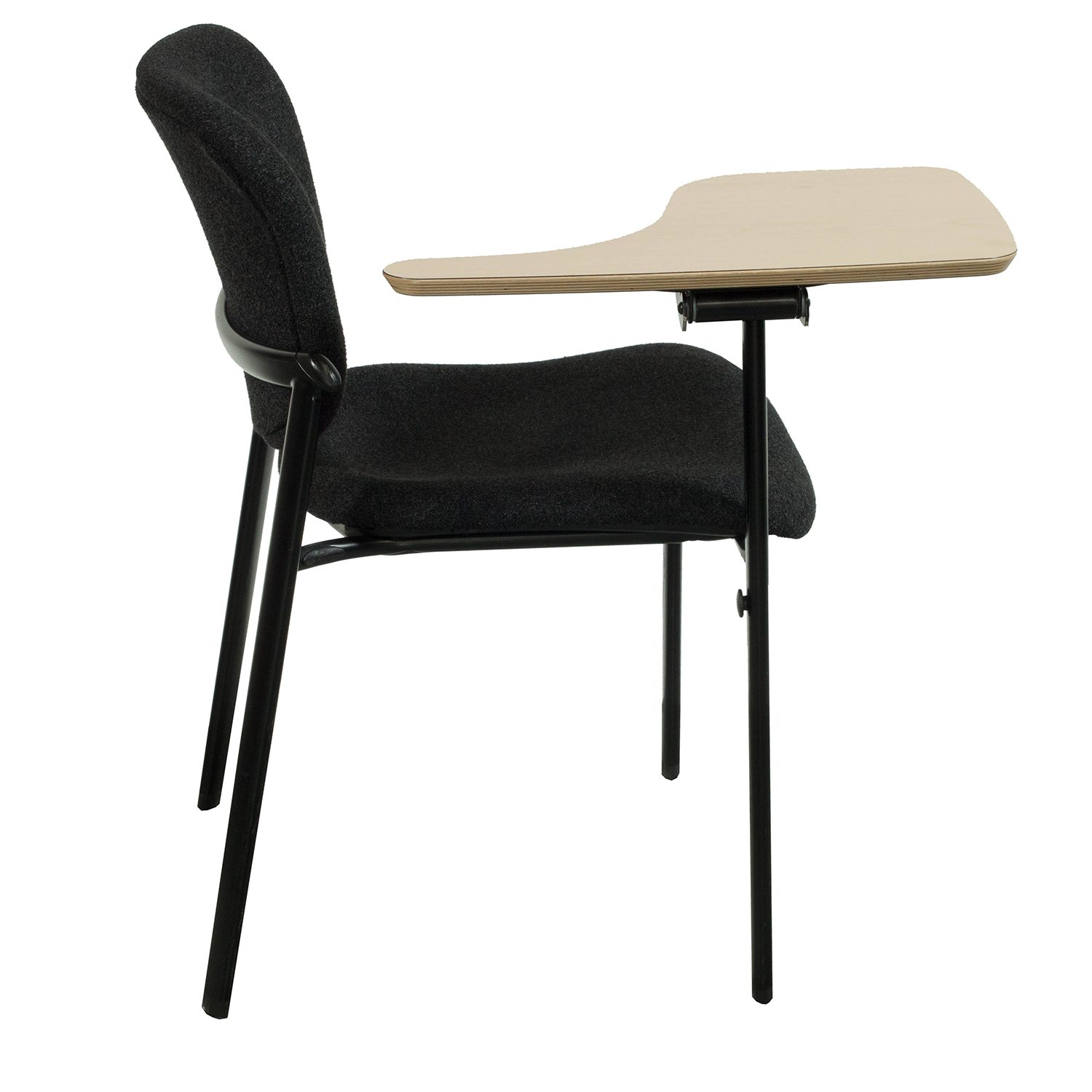 tablet arm chair haworth improv black tablet chair