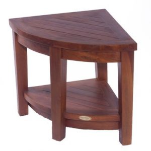 teak shower chair decoteak classic teak corner spa shower chair