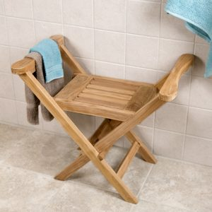 teak shower chair ntw deluxe folding shower seat