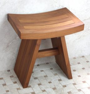 teak shower chair solid teak indoor outdoor asian shower stool