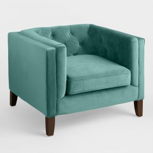 teal velvet chair xxx v