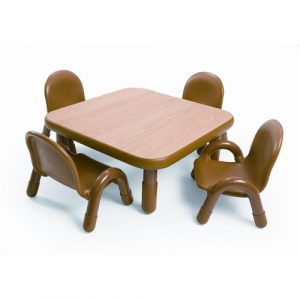 toddler chair and table angeles square baseline toddler table and chair set in natural abnw