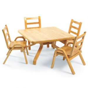 toddler table and chair set angeles naturalwood square toddler table and chair set