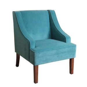 turquoise accent chair homepop swoop arm accent chair in teal turquoise velvet ddfda d b deeda