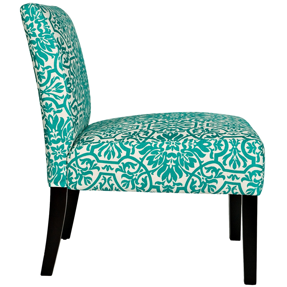 turquoise accent chair