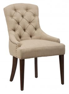 upholstered side chair jofran upholstered side chair with button tufting and nailhead trim
