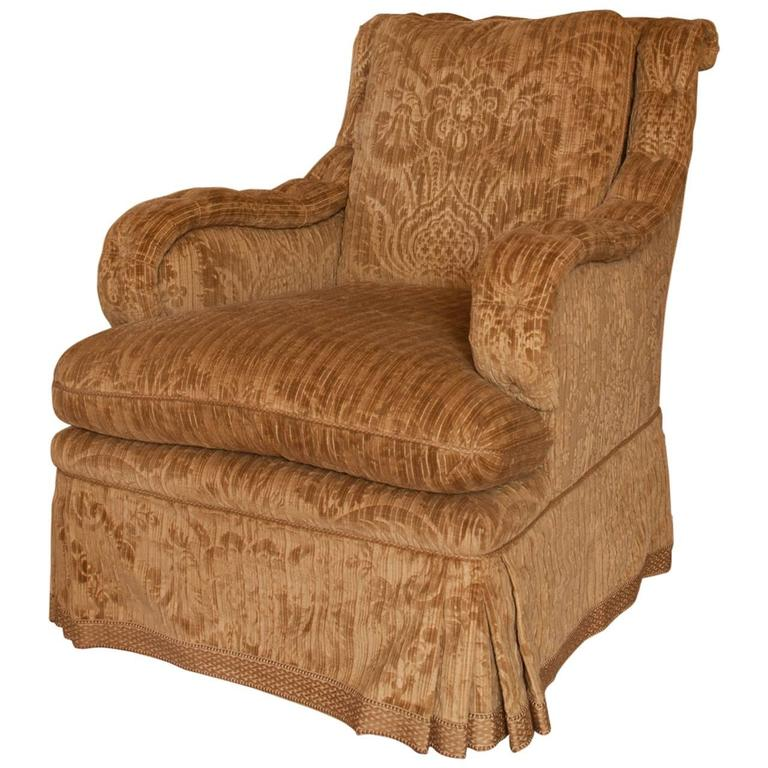 velvet club chair l