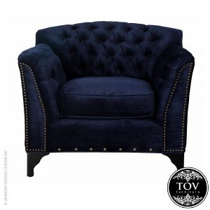 velvet club chair tov waterford navy velvet club chair