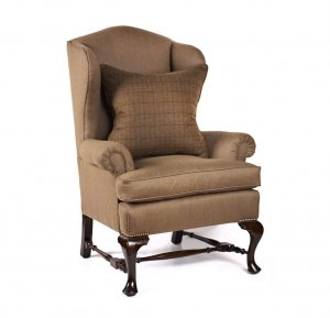 vintage wingback chair e