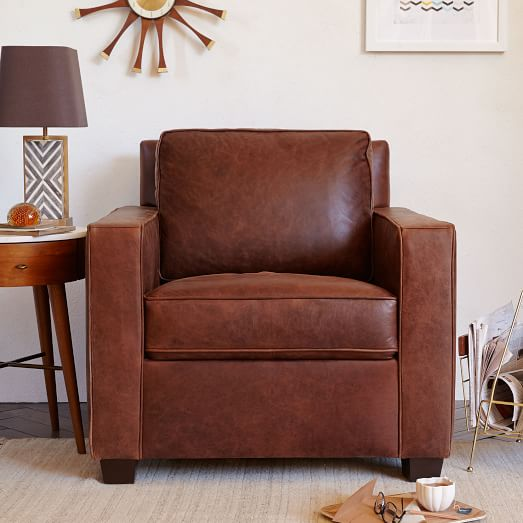west elm leather chair henry leather armchair c