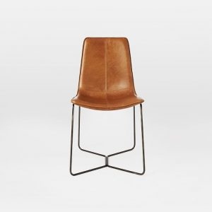 west elm leather chair slope leather dining chair c