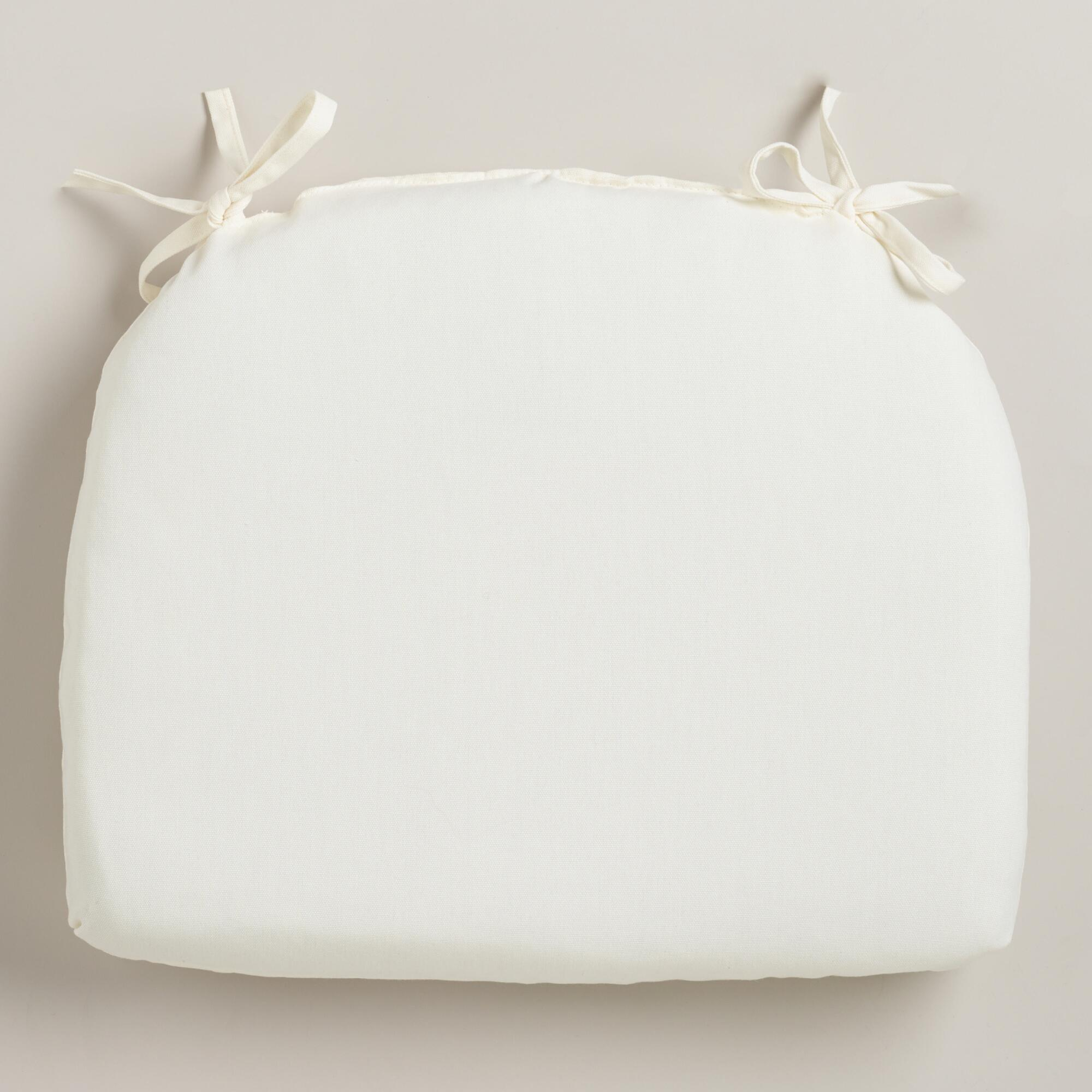 white chair cushions