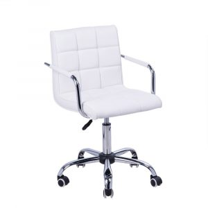 white computer chair adjustable office chair white
