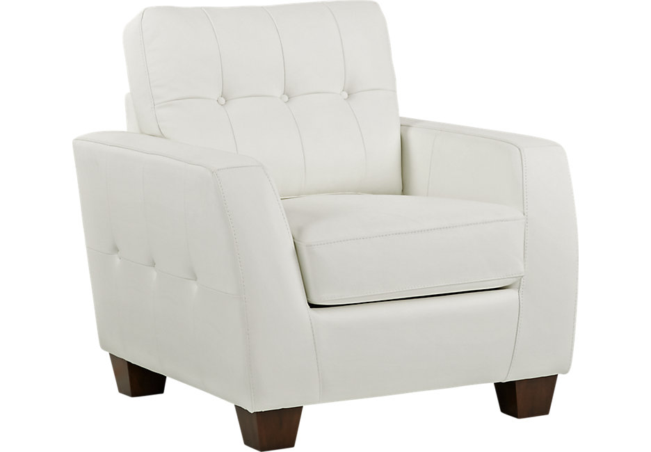 white leather chair