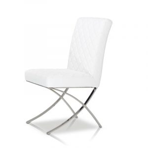 white leather dining chair c dsc
