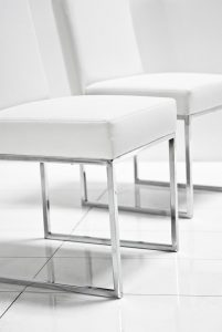 white leather dining chair dsc