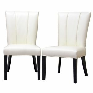 white leather dining chair janvier off white leather dining chair set of