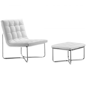 white lounge chair zuo modern m