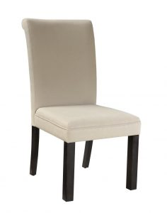 white parsons chair standard furniture gateway white parsons chair in dark chicory brown