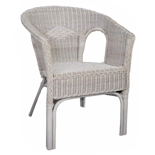 white wicker chair pm pp ltd rattan chair in white