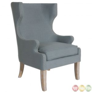 wing back chair graycie traditional high back wing chair